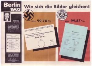 Unter Willy Brandt ließ der Berliner Senat 1964 Wahrheiten plakatieren: Gleichsetzung? - Foto: LyrAg