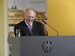 Gegen das Vergessen: Bundesfinanzminister Dr. Wolfgang Schäuble