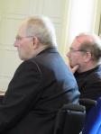 Aufmerksame Zuhörer:Wolfgang Schäuble und Stefan Wolle