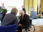 Der Barde im  Gespräch mit dem Minister