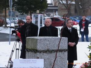 Für den Eigentümer Jens Franz, Reiner Kunz v.d. Stadt Stollberg und Landrat Frank Vogel - Foto: LyrAg