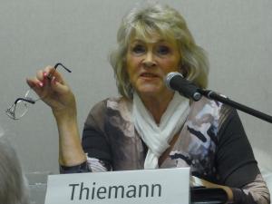 Ellen Thiemann im Museum Runde Ecke -Foto. LyrAg