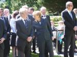 Vor dem Staatsakt: Joachim Gauck, Angela Merkel, Joachim Fritsch