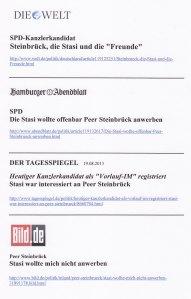 """Kleiner Ausschnitt: Schlagzeilen über """"Nelke"""""""