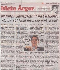 """Berlins """"grösste Zeitung"""" im Meinungs-Kampf der Kolumnisten"""