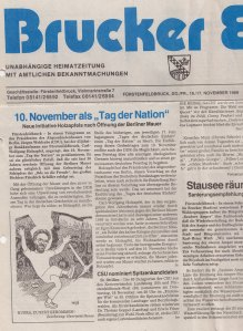 """Das """"Brucker Echo"""" berichtete auf Seite 1 über die Initiative - Archiv: 17.Juni"""