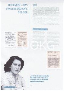 Umstrittene Präsentation von Hoheneck: Anita G. - Ausstellungs-Tafel:   © UOKG