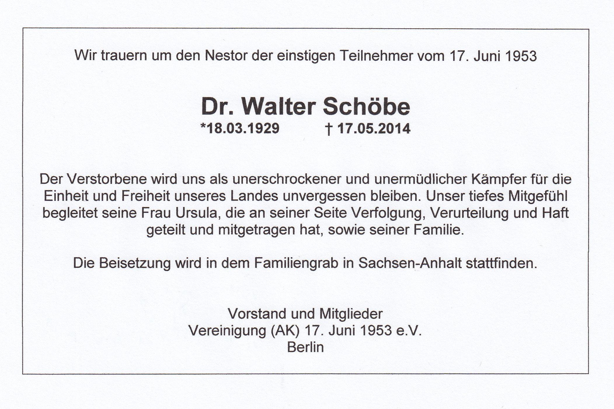 walter sch be vereinigung 17 juni 1953 e v