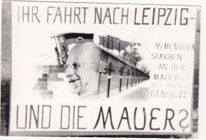 Hungerstreik vom 1. -  4.03.1963 am Mahnmal für Peter Fechter - Foto: LyrAg