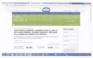 Website White House mit der Petition