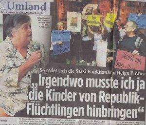 """Bericht auf der Innneseite. Auch """"BILD am Sonntag"""" berichtete"""