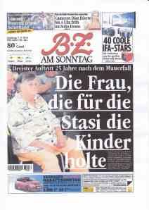 Ser Aufmacher am Wochenende: Buchvorstellung der Ex-Stasis in Berlin