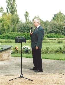 Bernd Stichler im ehem. KZ Sachsenhausen