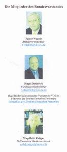 """Trotz schwerer Vorwürfe nach wie vor """"Mister VOS"""": Bundesgeschäftsführer Hugo Diederich - Foto: VOS-Seite 30.01.2015"""