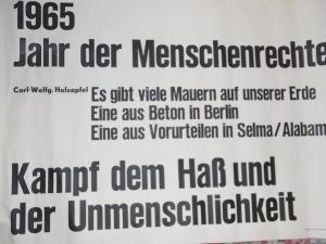 1965 Vorbild für einen geplanten Hungerstreik vor dem Amerika-Haus in Berlin - Archiv: C.W. Holzapfel