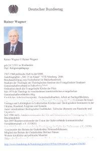 Hass-Prediger auf Seite des Deutschen Bundestages - Ein falsches Signal.