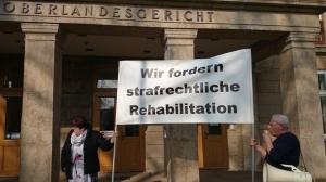 Prontan-Aktion vor dem OLG in Potsdam - Foto: Adler