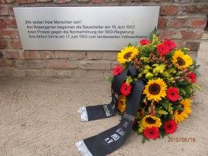 Gedenkstätte Weberwiese in der ehem. Stalinallee