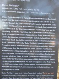 Stiftung Berliner Mauer: Geschilderter Vorgang, der so nicht stattgefunden hat. Foto: LyrAg