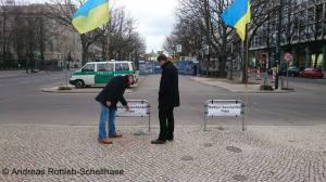 Zu den Mahnwachen wurde symbolisch ein Platz nach Nadya Savtschenko benannt Foto: LyrAg