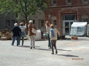 Der zukünftige Eingang zur Gedenkstätte - Foto: LyrAg