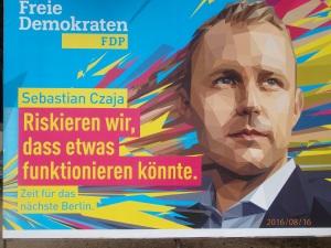 Das Risko: Einfallsreichtum gegen Plattheiten, FDP-Wahlplakat - Foto: LyrAg