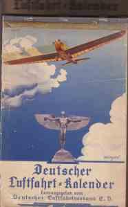 1930 erschienen: Der erste Deutsche Luftfahrt-Kalender - Archiv: cwh