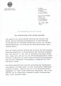 SPD: In der Opposition auf Seiten der SED-Opfer. PE vom 16.06.1992 - Archiv: Verein.17.Juni 1953