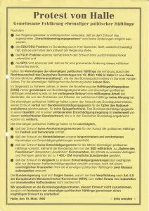 Geburtshilfe: Protest von halle 1992 - Archiv: CWH